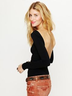 Free People Solid Low Back Top, $48.00 i-adore-clothes