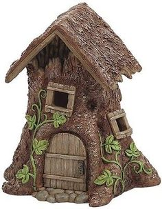 Details about Miniature Fairy Treehouse Whimsical Fairy Garden Village Accessory LED Light Up Garden Tree House, Gnome House, Fairy Garden Houses, Gnome Garden, Fairy Village, Fairy Tree, Miniature Trees, Miniature Fairy Gardens, Miniature Dollhouse Accessories