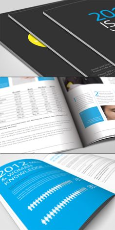 Annual Report Brochure  by Unicogfx (via Creattica)