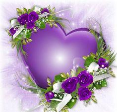 Purple Heart and Flowers The Purple, All Things Purple, Purple Rain, Shades Of Purple, Purple Stuff, Heart Wallpaper, Love Wallpaper, Beautiful Love, Beautiful Flowers