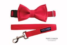 Layered Dog Bow Tie  Red  Optional Matching by PoppyParkerMarket