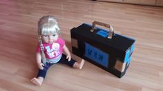 Child made baby doll`s suitcase. Therapy Activities, Shoe Box, Baby Dolls, Suitcase, To My Daughter, Diy Crafts, Children, Young Children, Boys