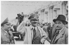 Pictorial History Of The NSDAP — L-R: DAF Chief Dr Robert Ley, Hitler, Martin...