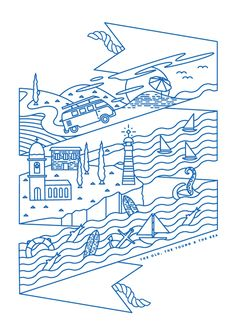The old, the Young and the Sea Shirt by Verena Michelitsch, via Behance