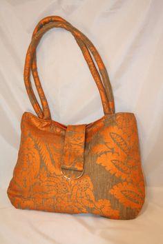 HoboTote Handbag in Orange Paisley by sacsappeal on Etsy, $49.00