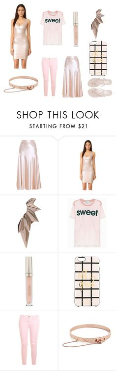 """""""Look like an angel"""" by cate-jennifer ❤ liked on Polyvore featuring Hillier Bartley, Hervé Léger, Maria Black, Wildfox, Stila, Kate Spade, Current/Elliott, Eddie Borgo and Tkees"""