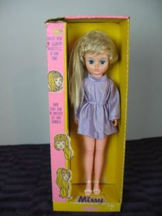 Vintage Uneeda Doll Missy IN BOX -Hair can be washed set and combed 1970's | eBay