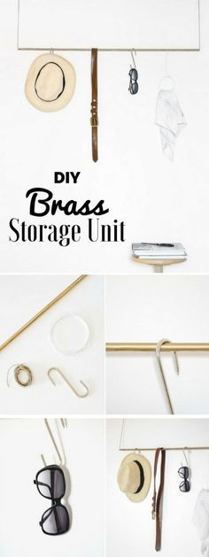Check out how to make an easy DIY Brass Storage Unit for bedroom decor @istandarddesign