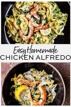 creamy homemade chicken alfredo recipe is perfect for a tasty and easy weeknight meal. Made with fettuccini pasta, heavy cream and parmesan, this traditional Italian pasta dish is simple and quick to make. Kid Friendly Chicken Recipes, Chicken Recipes Video, Chicken Ideas, Pasta Recipes, Soup Recipes, Creamy Chicken And Rice, Creamy Pasta, Homemade Chicken Alfredo, Alfredo Chicken