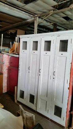 Vintage 1920's Wooden Lockers by DezzignCentral on Etsy