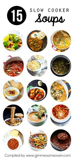 15 Slow Cooker Soups and Stews