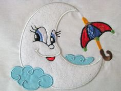 My Little Moon 09 Machine Applique Embroidery Design por KCDezigns, $3.00