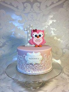 For Sofie - Cake by Frufi Ladybug Cakes, Owl Cakes, Cupcake Cakes, Fruit Cakes, Twin Birthday Cakes, Baby First Birthday Cake, Octopus Cake, No Bake Cake Pops, Love Cake