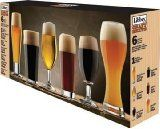 Libbey Craft Brew Sampler Clear Beer Glass Set, - - Product Description: This set includes one ounce classic pilsner glass, one 20 ounce English pub glass, one ounce Belgian ale glass, Beer Tasting Glasses, English Beer, Beer Glass Set, Wine Glass, Wheat Beer, Perfect Glass, Beer Brewing, Craft Beer, Barware