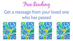 This is fascinating! Pick a card and get a message from a loved one who has passed. The messages are really specific, so you'll know who the message is from.