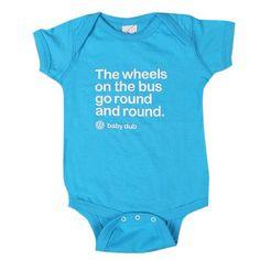 Genuine Volkswagen VW Wheels On The Bus Baby Infant Cruiser Onesie - Size Newborn Volkswagen http://www.amazon.com/dp/B00K0THOO6/ref=cm_sw_r_pi_dp_ch.xub0AMXCHT