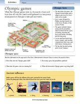 Share these key facts about the ancient Olympic games with your students. Learn about the Olympic festival, ancient sports, and how the ancient Olympic village was arranged. http://www.teachervision.fen.com/ancient-greece/printable/70356.html #socialstudies #ancientGreece #Olympics #OlympicGames