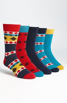 Topman 'Navstar' Socks (5-Pack) available at #Nordstrom