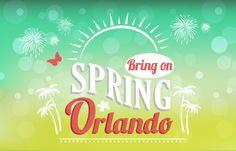 Bring on Spring 2015: Fun things to do on spring break in #Orlando!