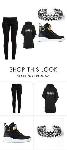 """""""sla"""" by myllenac-s on Polyvore featuring moda, 7 For All Mankind, MM6 Maison Margiela, Moschino e WithChic"""