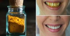 Turmeric powder is often used for skin whitening, and can be used to whiten teeth as well. Ingredients: 4 tablespoons of organic turmeric root powder 2 tab Teeth Whitening Remedies, Natural Teeth Whitening, Skin Whitening, Organic Turmeric, Turmeric Root, Diy Beauty, Beauty Hacks, Tooth Sensitivity, Powder Recipe