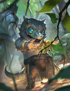 interior , Rudy Siswanto : Here is few artworks that I contribute in Baby Beastiary book long time ago This is fun project to work on, I really enjoy exploring and put a little story tell in each baby creature even though I Fantasy Character Design, Character Concept, Character Art, Concept Art, Dungeons And Dragons, Fantasy Artwork, Magical Creatures, Fantasy Creatures, Forest Creatures