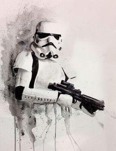 Star Wars: Stormtrooper - Star Wars Stormtroopers - Ideas of Star Wars Stormtroopers - Star Wars: Stormtrooper Deviant Art, Star Wars Painting, 501st Legion, Star Wars Design, Star Wars Tattoo, Star Wars Images, Star Wars Wallpaper, Star Wars Fan Art, Sith