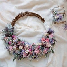Wedding Wreaths, Wedding Flowers, Wedding Decorations, Crochet Accessories, Crochet Necklace, Floral Wreath, Bouquet, Bride, Pretty