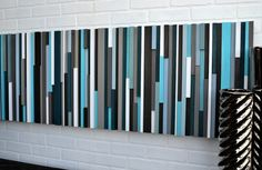 Modern Wood Headboard Queen Headboard by moderntextures on Etsy