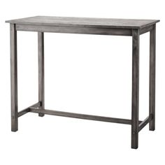 I think I found our table?  Tall and open underneath. We can get cool stools from somewhere else. Color scheme too! Pub Table