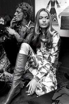 Giorgio di Sant' Angelo and Veruschka, 1969. Photo Harry Benson.