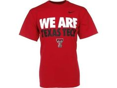"""Texas Tech Red Raiders NCAA Nike """"We Are Texas Tech"""" Loose Fit Tee New With Tags"""