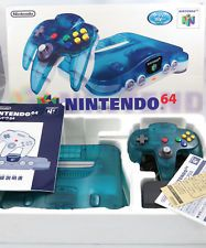 CONSOLE NINTENDO 64 CLEAR BLUE LIMITED EDITION COMPLETE (Japan) + RAM PACK