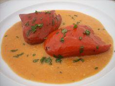 Pimientos del piquillo rellenos de bacalao en salsa de marisco | Magia en mi cocina | Recetas fáciles de cocina paso a paso