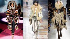 Tendance mode hiver 2015 2016 fourrures tribales, défilés Dsquared², Lanvin et Sacai