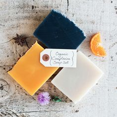 Poppy Soap Co: Organic Complexion Bar Soaps, Set of 3  -  part of the martha stewart american made collection on ebay.      lj