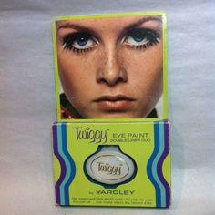 ©1967 TWIGGY Yardley Eye Paint MOC unused Mod Fashion Model