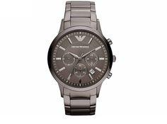 NEW Emporio Armani Luxury Men Watch AR2454 Black Stainless Steel Chronograph #EmporioArmani #Casual