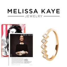 #MelissaKayeJewelry Margo #ring in #18k yellow #gold with #diamonds featured in W Magazine #jewelry #finejewelry #yellowgold #stackingrings #WMagazine #magazine #fashion #style