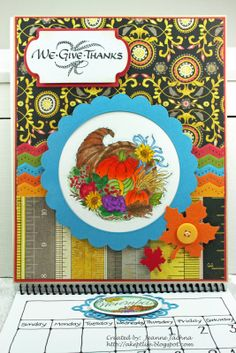 A Kept Life: Serendipity Blog Hop Challenge - January 18, 2012 Calendars  Created by Jeanne Jachna using We Give Thanks and Horn of Plenty