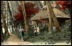 Kyoto Arashiyama Hozugawa 手彩色絵葉書京都嵐山保津川明治大正時代