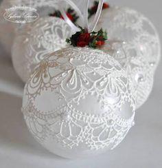 Resultado de imagen para diy christmas lace