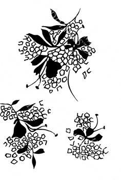 Black Leaves, Textile Design, Textiles, Patterns, Prints, Decor, Pattern, Block Prints, Decoration