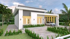 House Plans with 3 Bedrooms Slap roof - House Plans House Design with 3 Bedrooms Terrace Roof – House Plans Simple House Plans, New House Plans, Dream House Plans, Modern House Plans, Duplex House Design, Small House Design, House Construction Plan, Three Bedroom House Plan, Flat Roof House