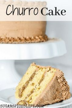 Churro Cake. Soft ,cinnamon layers made with brown butter, a rich pralina filling, and a buttercream frosting with melted dark and white chocolates mixed in. It is so amazing and delicious that it has been known for people to fall in love AND to get married while eating it. Churro Cake, Cake Recipes, Dessert Recipes, Cinnamon Cake, Star Cakes, Peanut Butter Desserts, No Bake Bars, Easy No Bake Desserts, Baked Banana