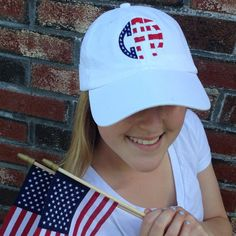 3d0f5821d55 monogrammed stars and stripes american flag baseball hat for the fourth of  july