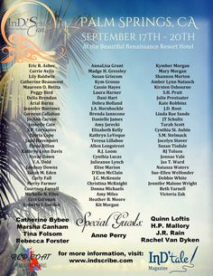 2015 InD'Scribe Con - attending authors ~ http://www.indscribe.com/attending-authors/