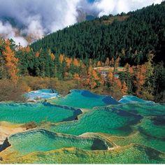 Instagram @tourtheplanet  China  Five Flower Lake