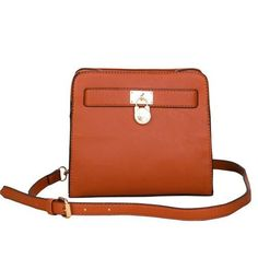 Michael Kors Hamilton Lock Medium Tan Crossbody Bags