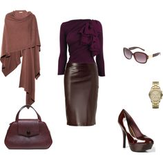 love it,though not sure about leather as the medium of choice for the skirt... but ooh the cashmere wrap